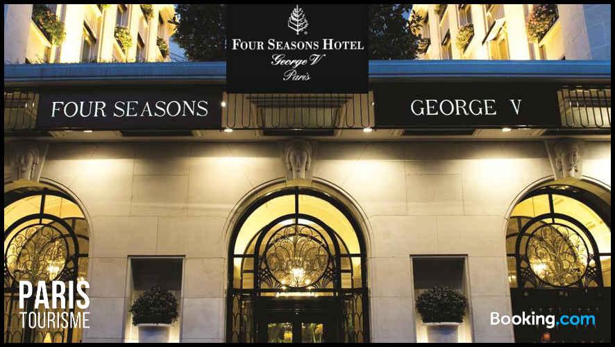 Hôtel George V vue de la rue George V à Paris