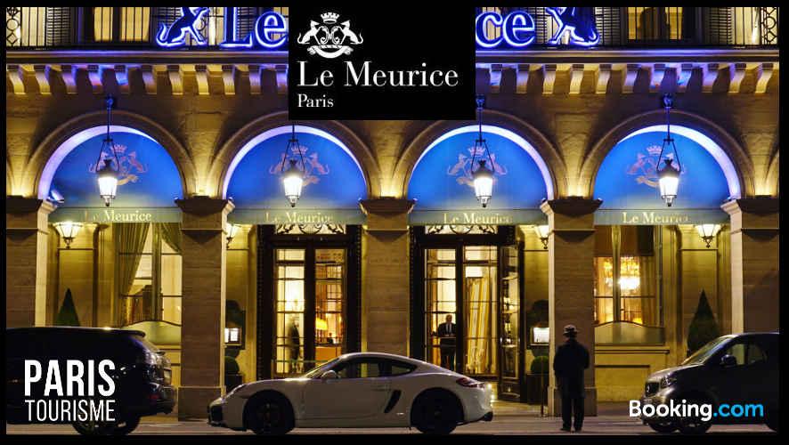 Facade de l'hôtel Meurice à Paris