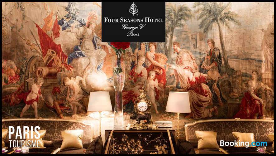 Hôtel George V : image d'un salon luxueux de l'hôtel